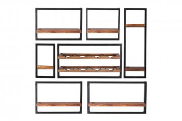Set 7 etajere din lemn de mango Panama
