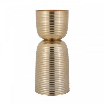 Suport lumanare din metal Jeral, gold