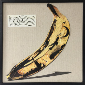 Tablou din hartie Banana 42cm x 42cm