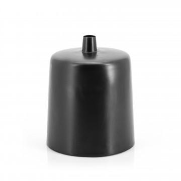 Vaza decorativa din fier Dotty neagra 24X30 cm