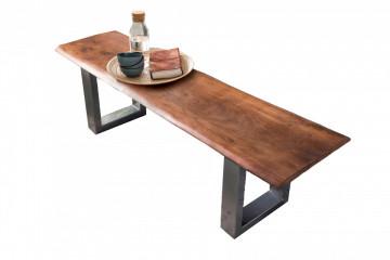 Bancheta Tables & Benches din lemn de salcâm cu bazā gri antic