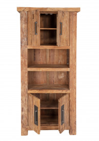 Biblioteca din tec Coral 90x200 cm