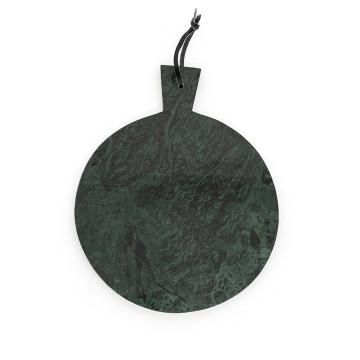 Blat pentru servire rotund din marmura CB3, verde, 31 cm