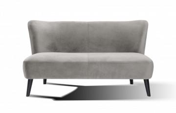 Canapea catifea, 2 locuri, gri
