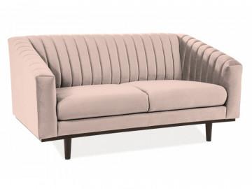 Canapea din catifea Asprey bej, 2 locuri