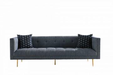 Canapea simpla, 3 locuri, gri