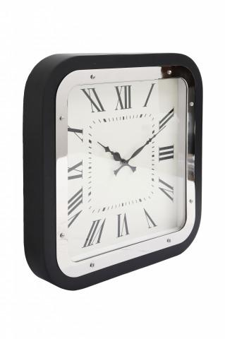 Ceas de perete Moments 5x40x40 cm negru / argintiu