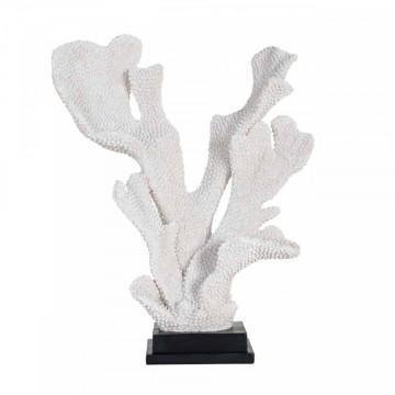 Decoratiune coral Noah, alb