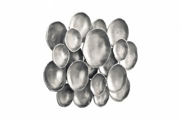 Decorațiune de perete Domizil 80x51x10 cm argintie