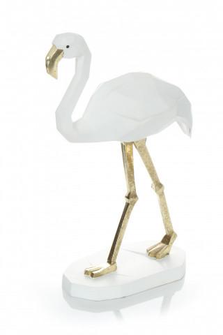 Decoratiune Flamingo, alb