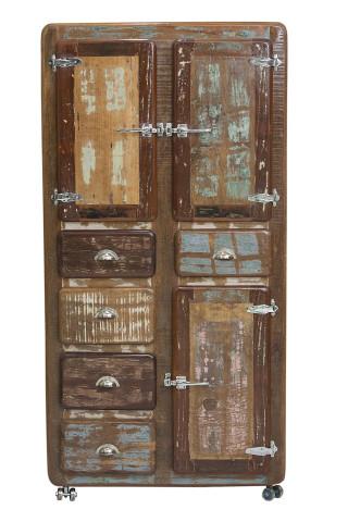 Dulap din lemn reciclat Fridge 90x190 cm