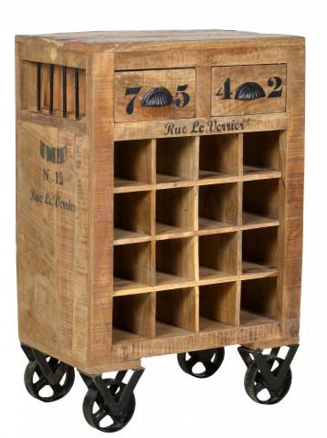 Dulapior pentru vin Rustic, depozitare pentru 16 sticle