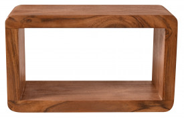 Etajera din lemn de salcam 34x15x20 cm