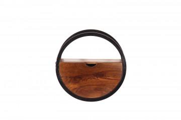 Etajera din lemn de salcam si fier Panama 40 x 20 cm