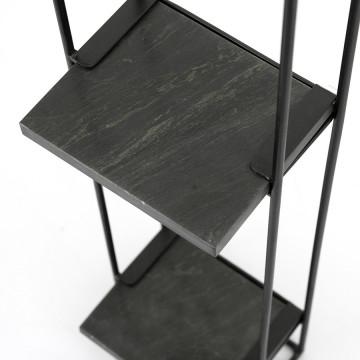 Etajera din marmura si fier Shelly 20x75 cm