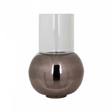 Lampa decorativa din aluminiu/sticla Orren neagra, un bec