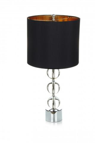 Lampa decorativa din metal/sticla Polaro neagra/aurie, un bec