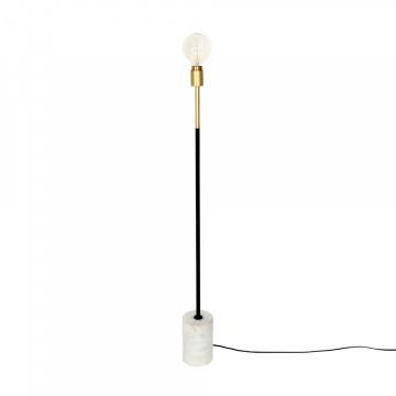 Lampadar din metal/marmura Capucine alb, un bec