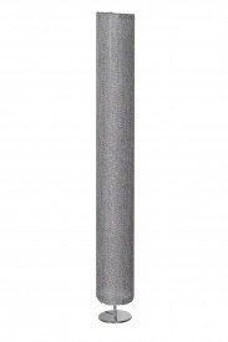 Lampadar rotund din otel/plastic/tesatura 120 cm gri, 2 becuri