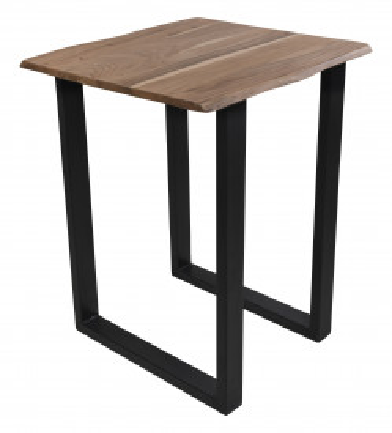 Masa de bar patrata din lemn de salcam Tables&Benches 80x80x110 cm maro