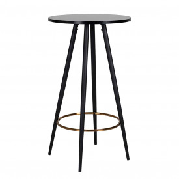 Masa de bar rotunda din lemn Lando 103x60 cm neagra
