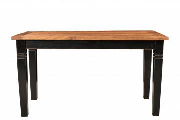 Masa dreptunghiulara din lemn de mango 140x90x76 cm maro/negru