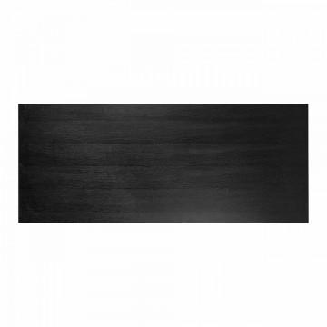 Masa dreptunghiulara din lemn de stejar Oakura 5 x 230 x 95 cm neagra