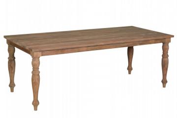 Masa dreptunghiulara din lemn de tec reciclat 160x90x78 cm maro