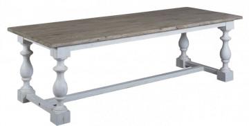 Masa dreptunghiulara din lemn masiv 170x90x78 cm maro/alb