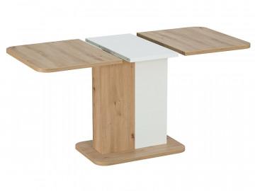 Masa dreptunghiulara extensibila cu blat din lemn Next 110 x 69 x 75 cm maro / alb