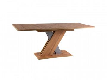 Masa dreptunghiulara extensibila din lemn Exel 140 x 85 x 76 cm maro