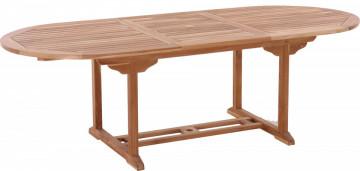 Masa pentru gradina ovala din lemn de tec extensibila 180x100x75 cm maro