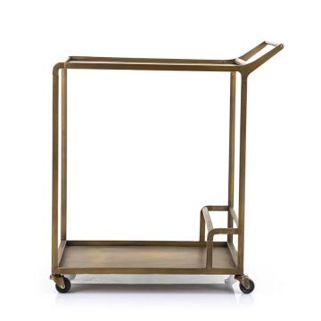 Masuta/Carucior pentru servire din fier Butler, 74x45x82 cm, bronze