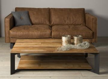 Masuta de cafea dreptunghiulara din lemn cu spatiu de depozitare 135x75x35 cm maro