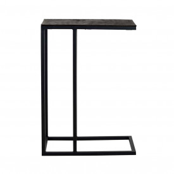 Masuta de cafea dreptunghiulara din metal Bolder 60x55x35 cm neagra
