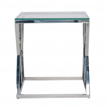 Masuta de cafea patrata din sticla Paramount 55x55x60 cm transparenta