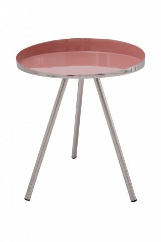 Masuta de cafea rotunda Morrison 41x41x47 cm roz