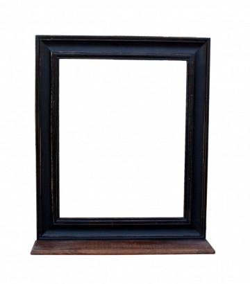 Oglinda dreptunghiulara cu rama din lemn/MDF neagra CORSICA, 68 x 10 x 79 cm