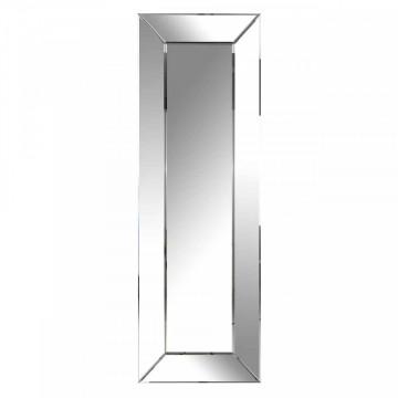 Oglinda dreptunghiulara cu rama din sticla argintie Birlee, 180 x 60 x 5 cm