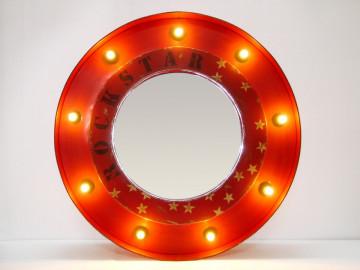 Oglinda rotunda cu rama din fier galvanizat THIS & THAT, 78 x 10 x 78 cm