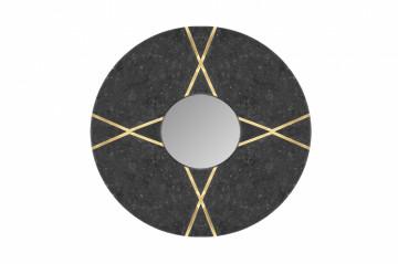 Oglindă rotunda cu rama din marmura neagra Dexter 30x30x2 cm