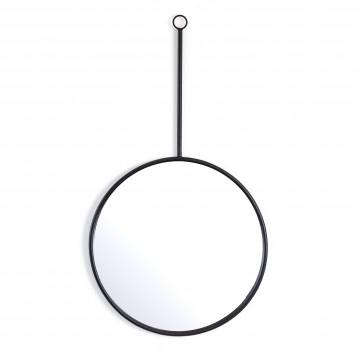 Oglinda rotunda cu rama neagra Womack 50x3x90 cm