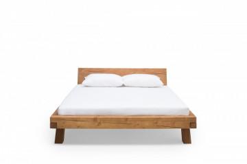 Pat din lemn masiv de molid 140 x 200 cm