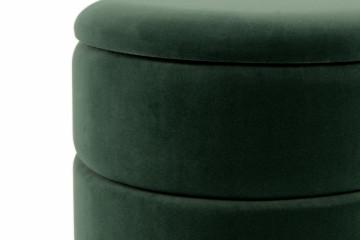 Puf/Taburet tapitat cu spatiu pentru depozitare Zero verde
