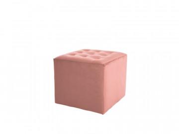 Puf / Taburet tapitat Lori roz