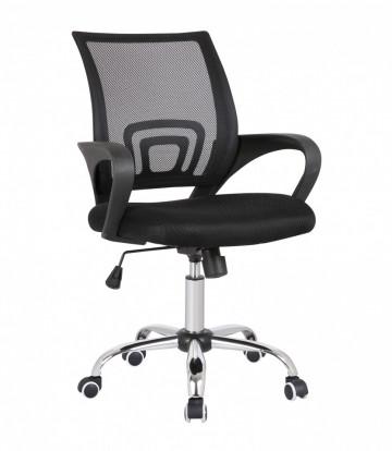 Scaun birou rotativ din imitație de piele Pejo negru