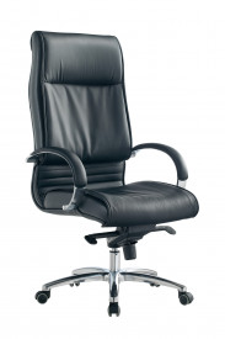 Scaun birou rotativ din imitație de piele Rango negru