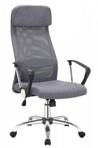 Scaun birou rotativ tapițat cu spătar din plasă Dos gri