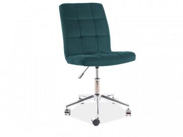 Scaun de birou din catifea Q20 verde
