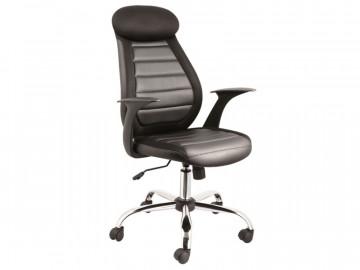 Scaun de birou din piele ecologica Q102 negru